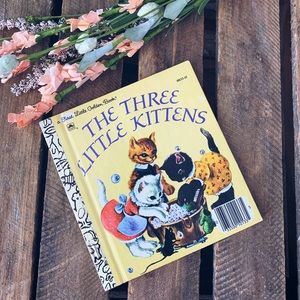 Vintage Mini The Three Little Kittens Golden Book